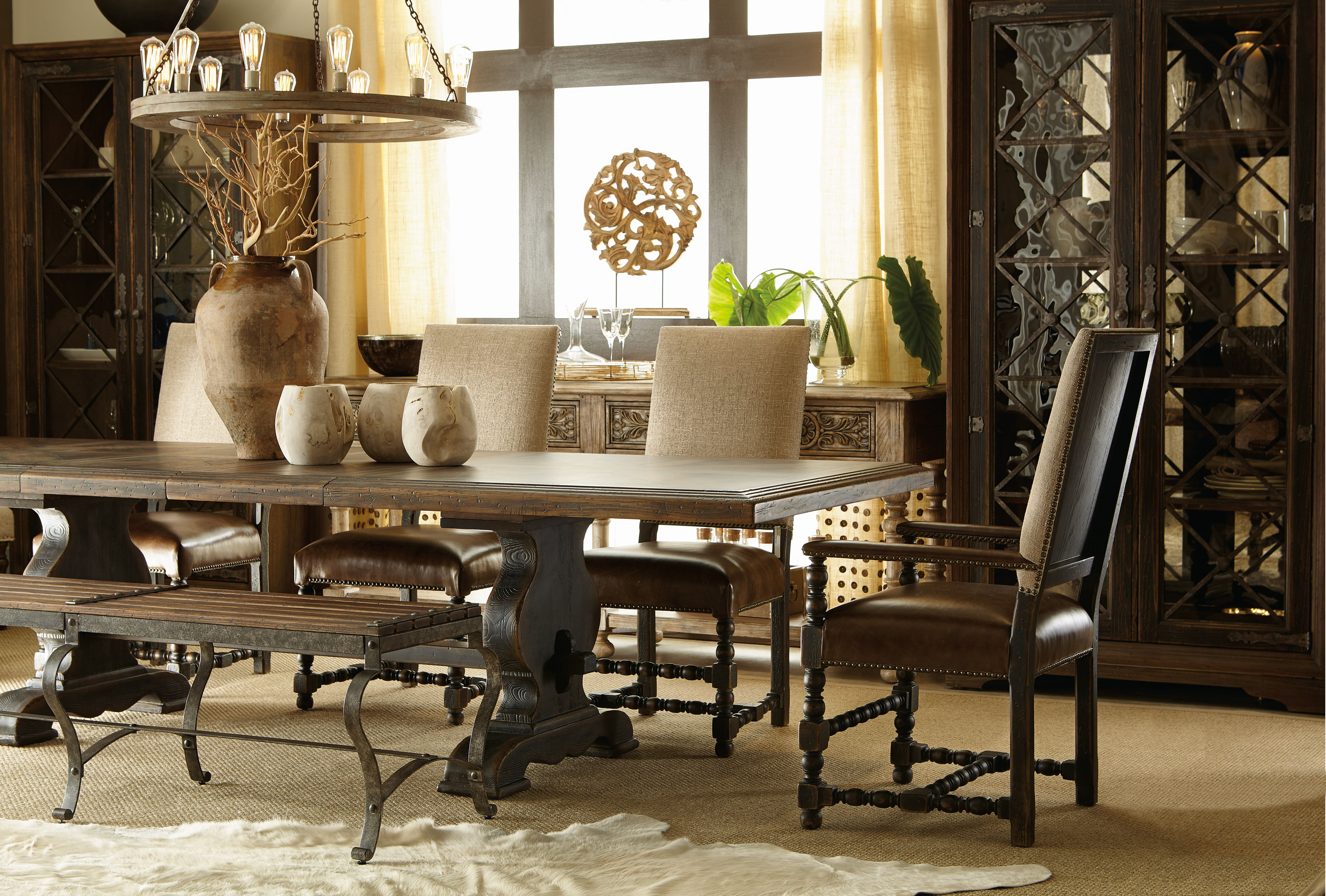 The Hill Country Trestle Dining Table, Hill Country Dining Room Furniture