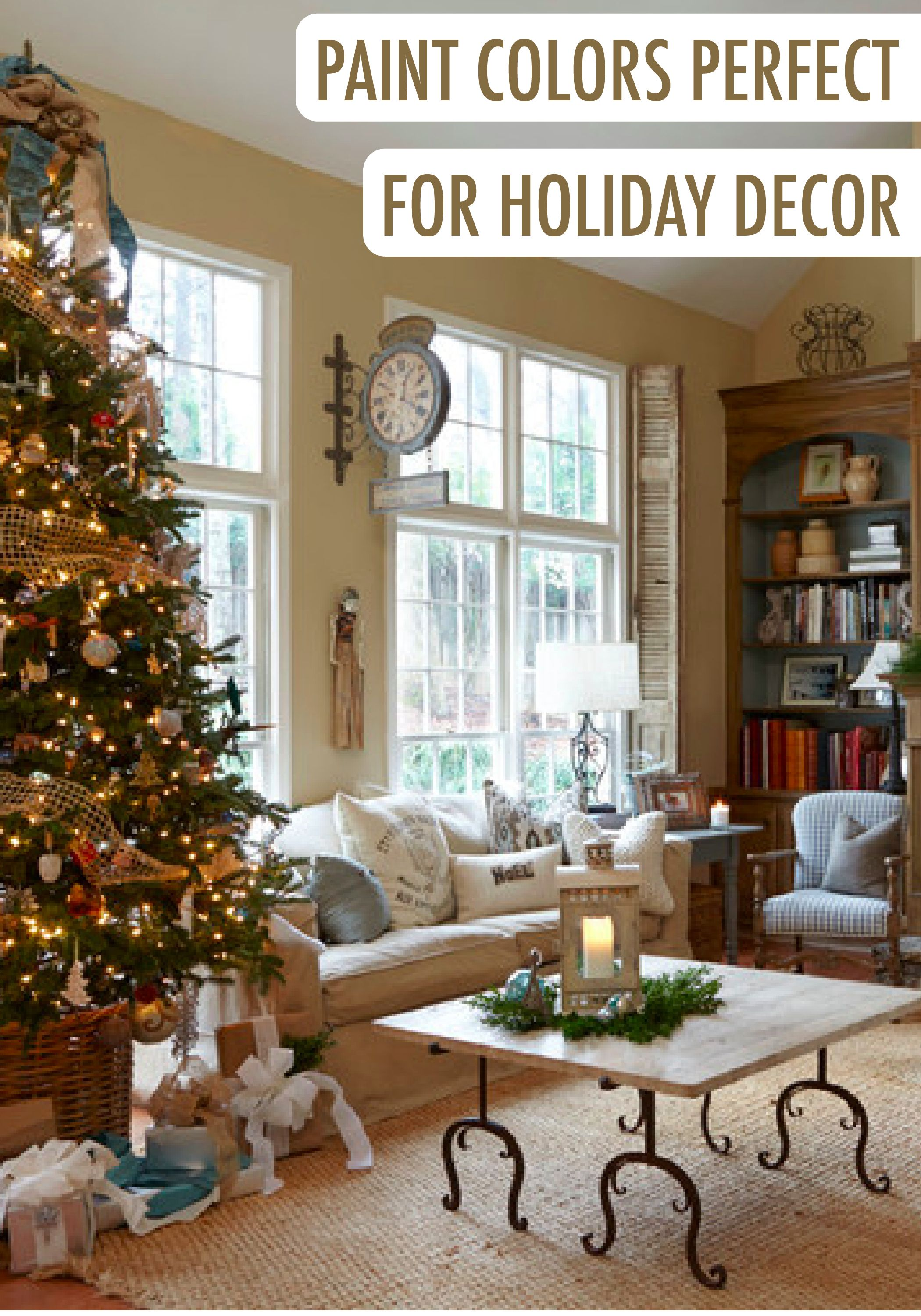 Hidden Power Of Neutrals Inspirations Behr Paint Christmas Decorations For The Home Modern Christmas Decor Christmas Decorations Living Room