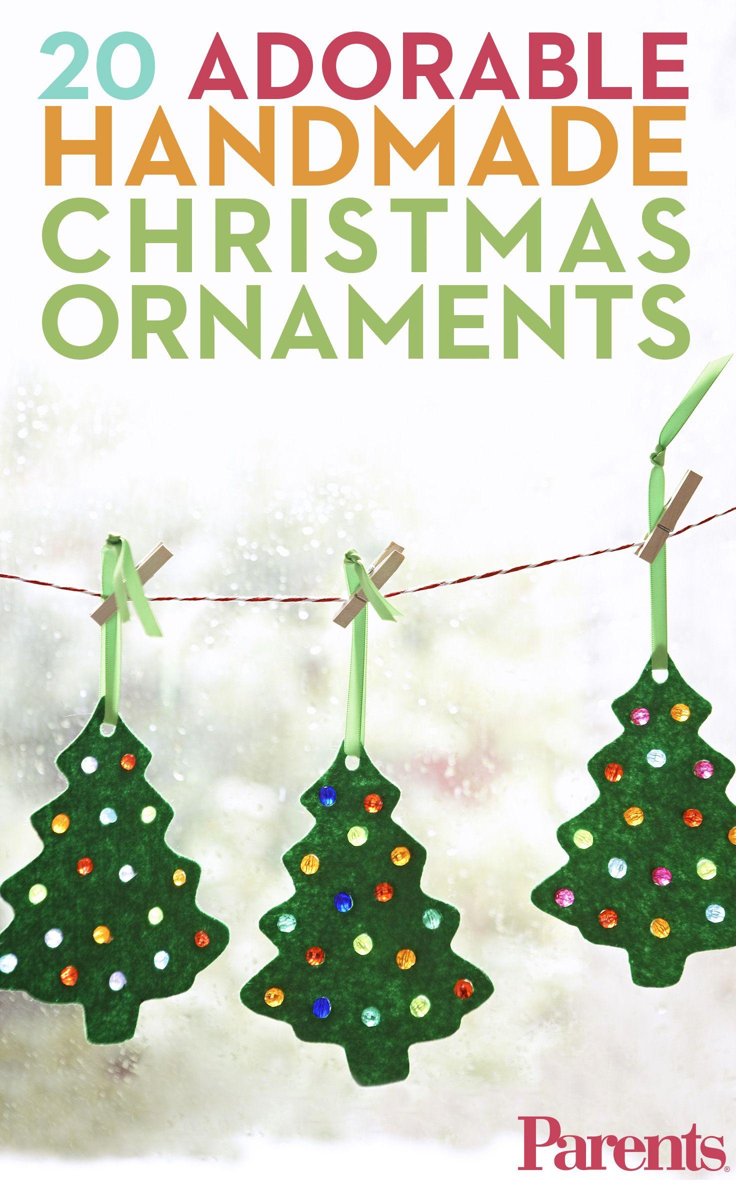 20+ Christmas Ornaments for Kids to Make | Christmas ...