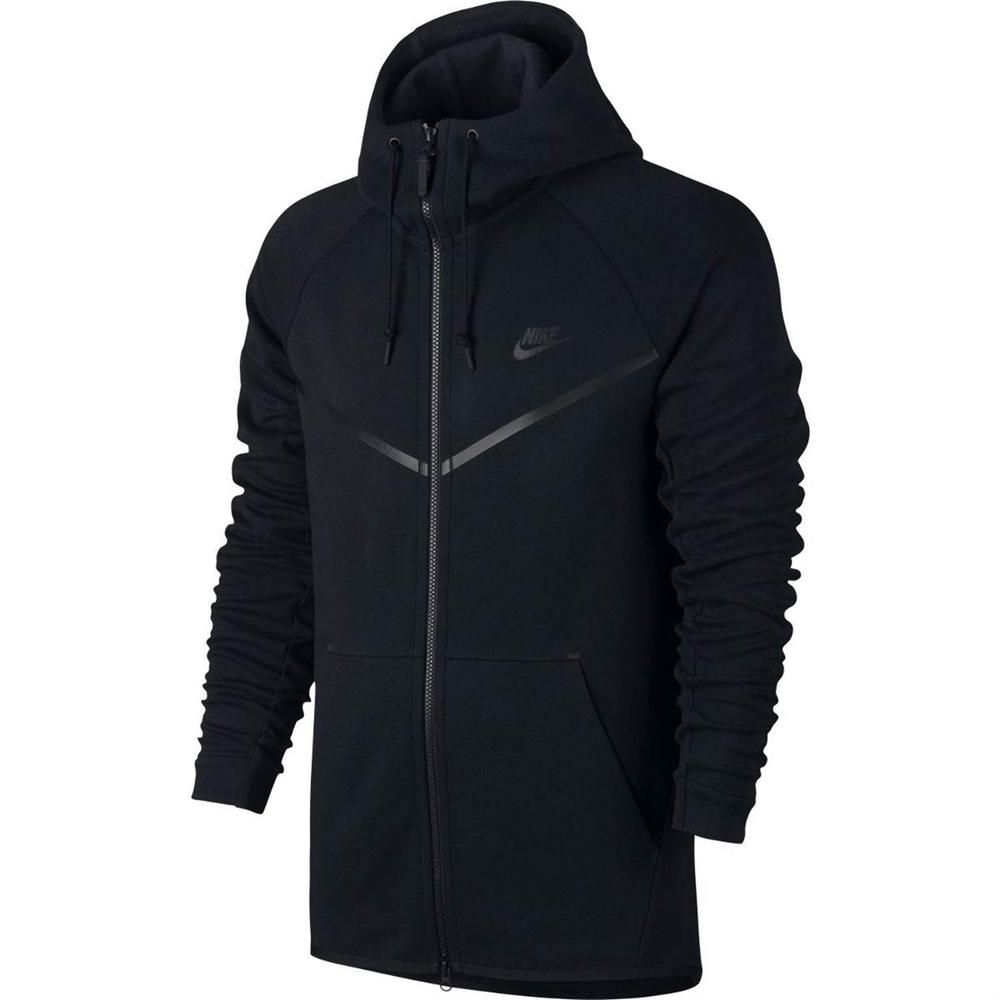 Nike Tech Fleece Windrunner Full Zip Hoodie Black Men's Large 805144 010
