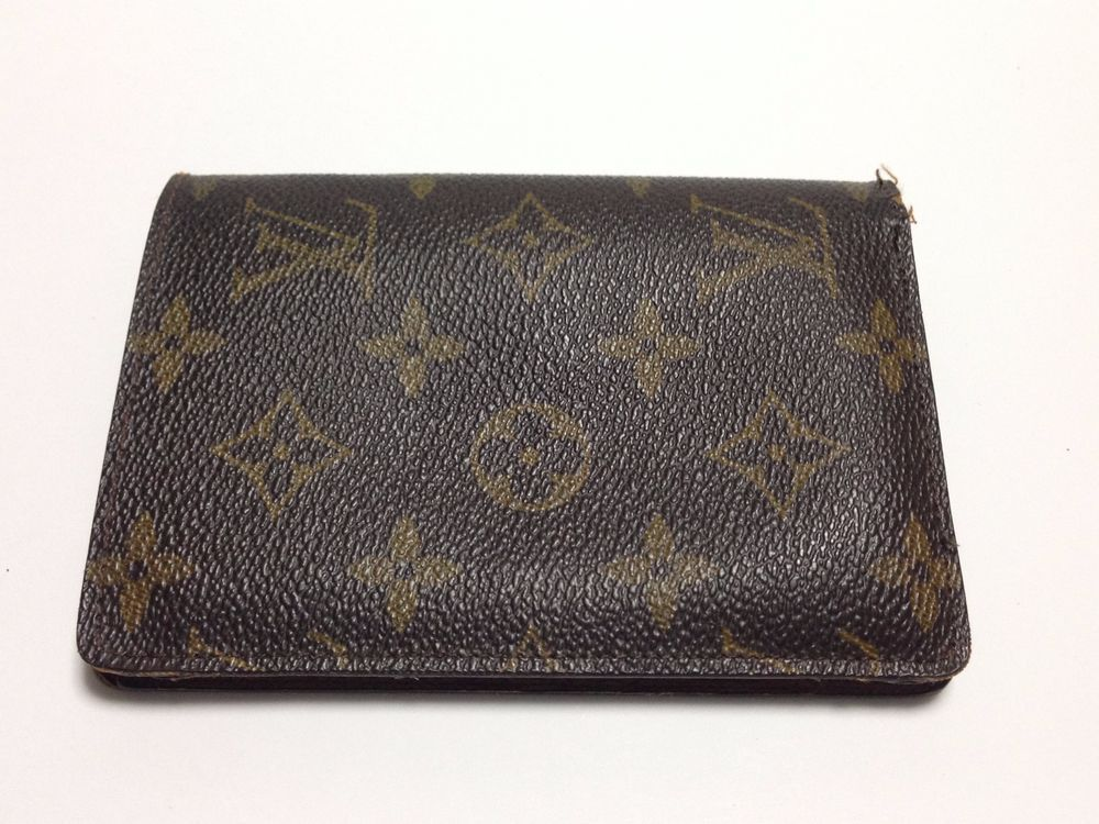 Authentic LOUIS VUITTON Monogram Business Card Holder LV from Japan ...