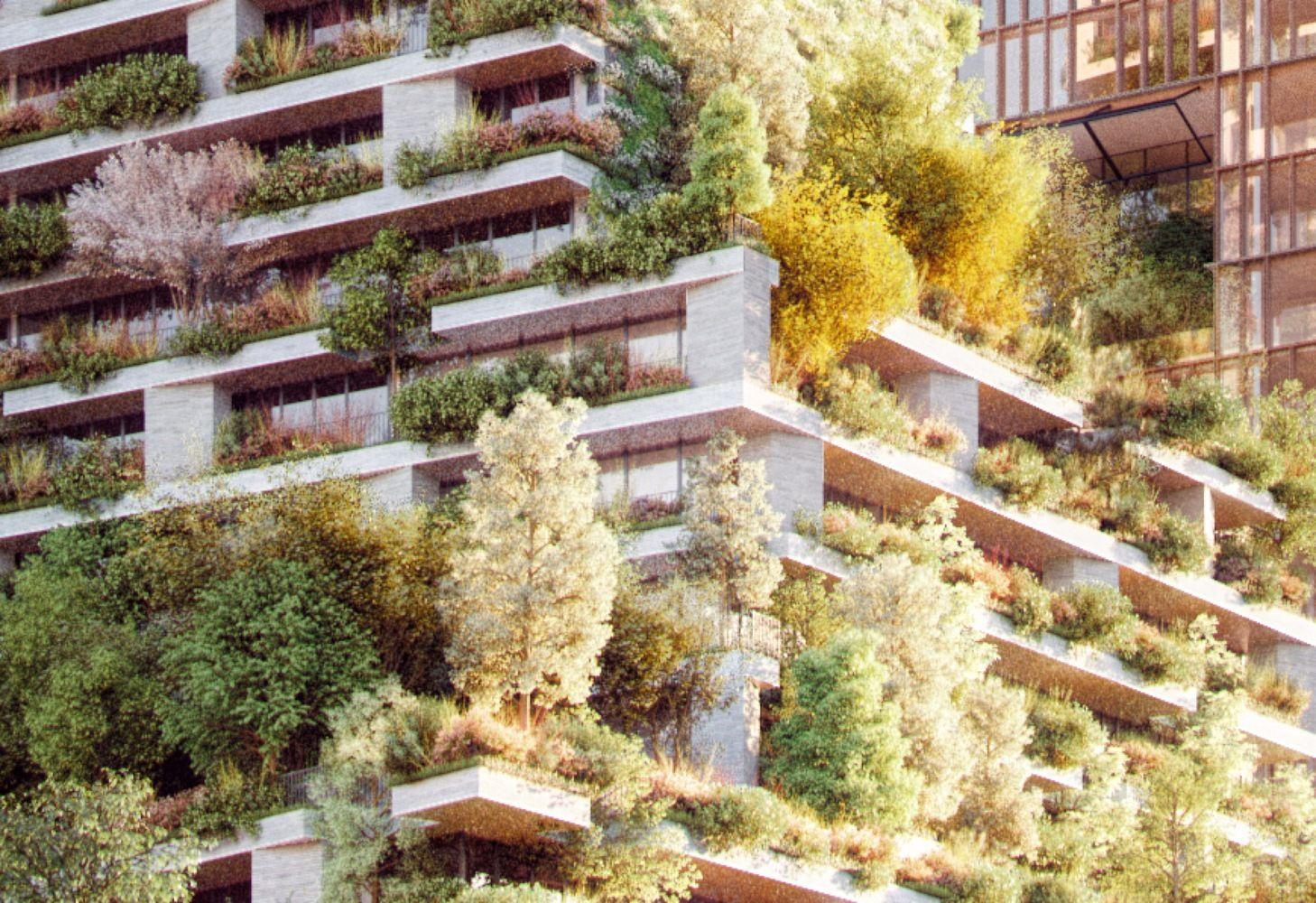 Stefano Boeri Architetti construirá a primeira floresta vertical na Holanda,© Imaginary A2 / Stefano Boeri Architetti