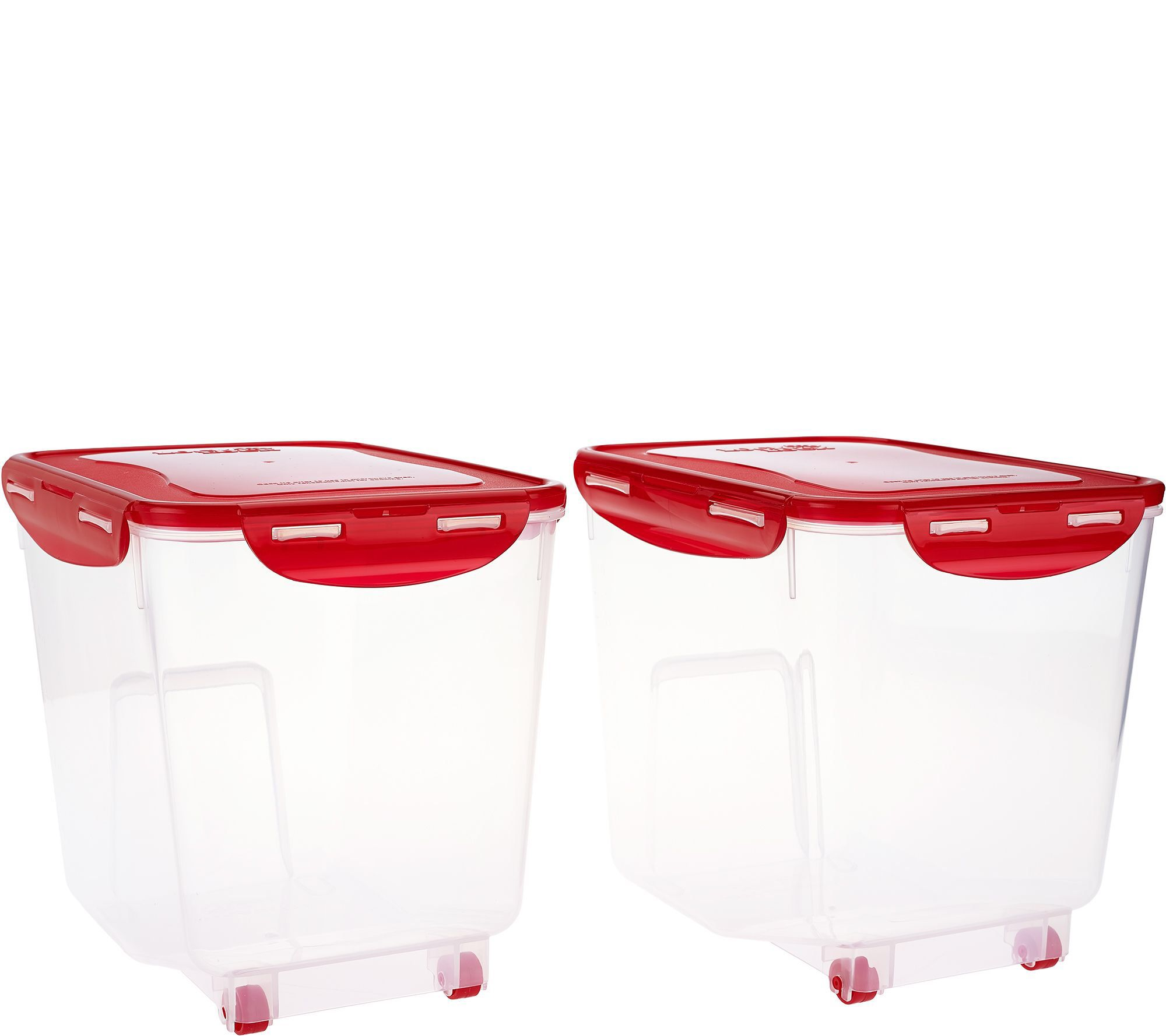 Lock & Lock 2pc Bulk Storage Bins w/ Wheels