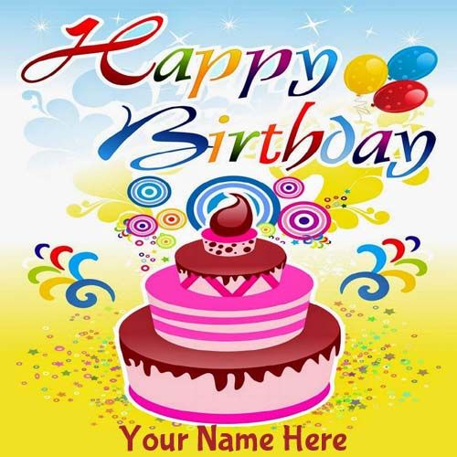 Write Your Name On Beautiful Birthday Card Online – Birthday Greeting Cards with Name