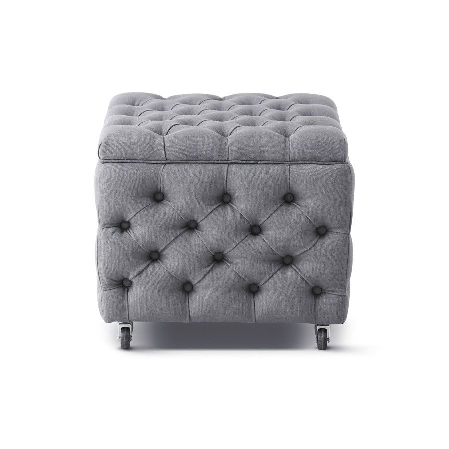 Fabulous Square Storage Ottoman Wolf Grey In 2019 Ottomans Unemploymentrelief Wooden Chair Designs For Living Room Unemploymentrelieforg
