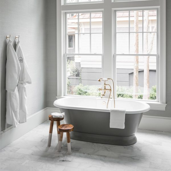 Stone Gray York Victoria Albert Baths In 2020 Victoria And Albert Baths Modern Bathroom Spa Bathroom Colors