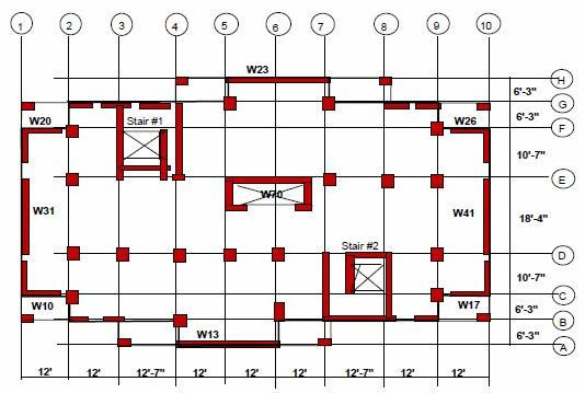 Rc Shear Wall Plan Google Search Concrete Building How To Plan Floor Plans