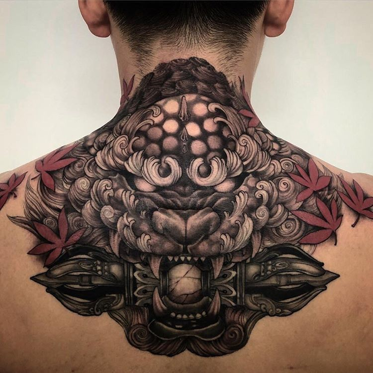 Neck Tattoo Design In 2020 Back Tattoos For Guys Tattoos Back Tattoos For Guys Upper