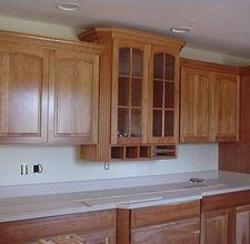 how to cut crown molding for kitchen cabinets kitchen pinterest rh pinterest com Kitchen Cabinets with Crown Molding On Top Crown Molding Installation