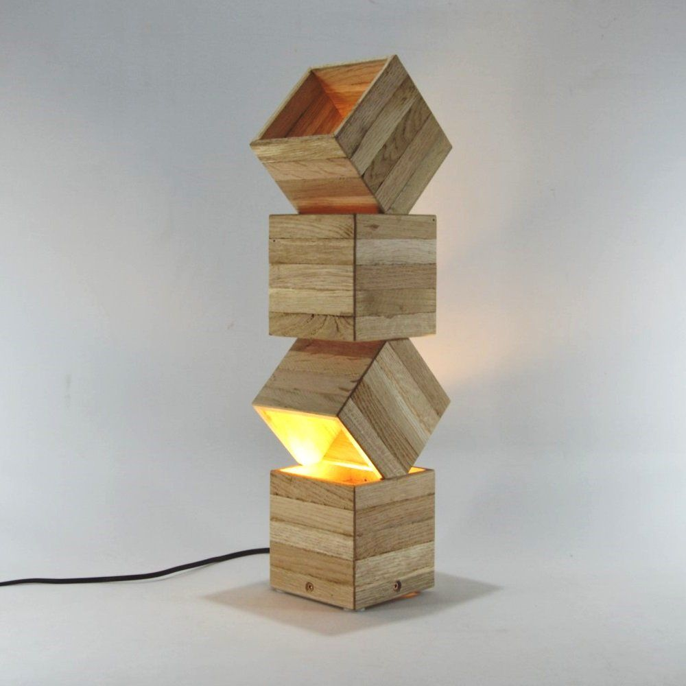Lampe Design En Bois Poser Danquen By Lune Et Animo Objets Design Lumineux Grande Lampe Poser Danquen Compos E De Quatre Boites Empil Es Desi Style