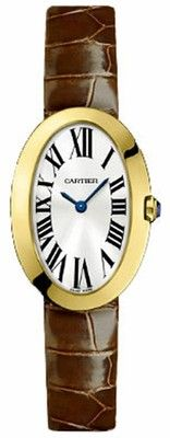 NEW in Box Cartier Baignoire Ladies 18K Yellow Gold Watch Oval Case  W8000009