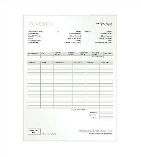 General Invoice Format Generic Invoice Template Choose The Right - Model invoice format