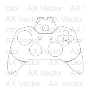 Xbox one controller vector template vector contour cut templates xbox one controller vector template toneelgroepblik Choice Image
