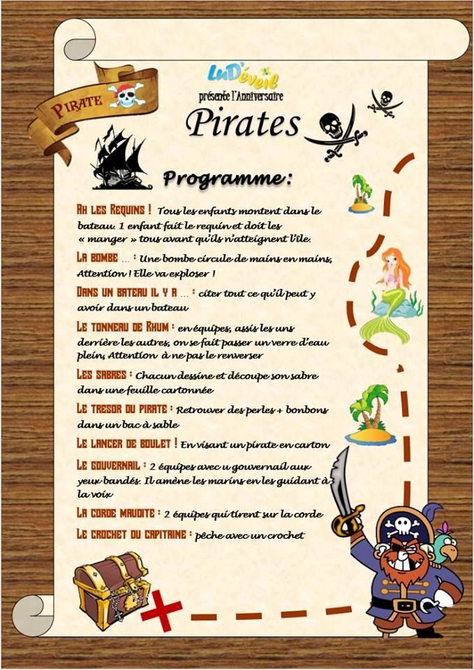 anniversaires enfants animations pirates f tes anniversaires animations enfants programmes. Black Bedroom Furniture Sets. Home Design Ideas