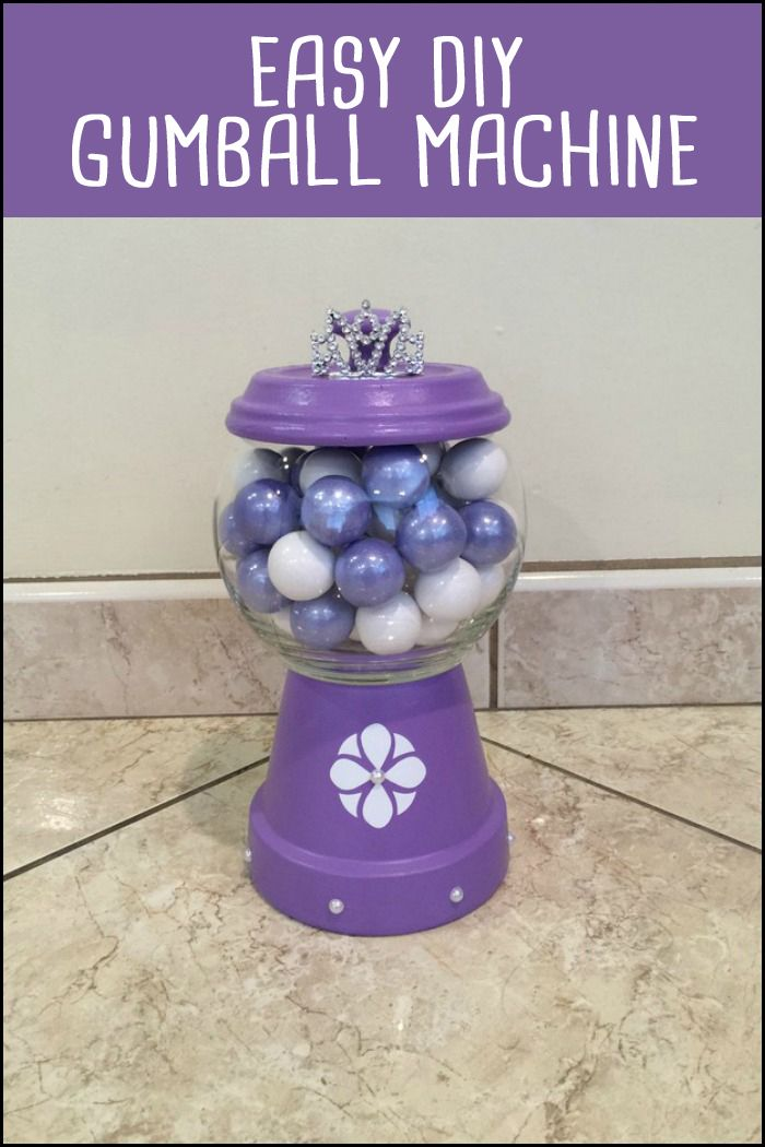 Add color to your kiddie party by making these DIY gumball machines!