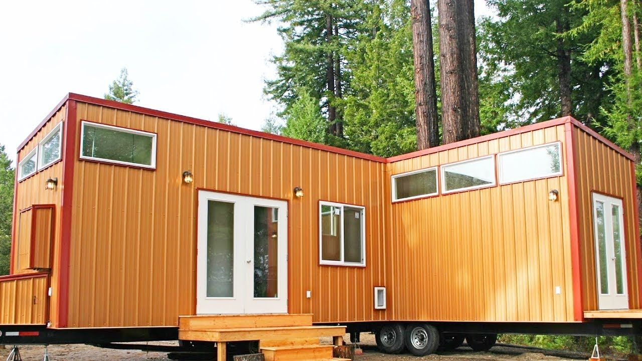Amazing Two Tiny Houses Permanently Joined Together To