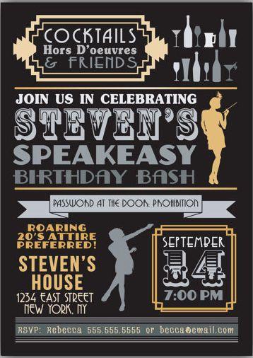 amazing speakeasy party invitation and 32 speakeasy party invitation template free