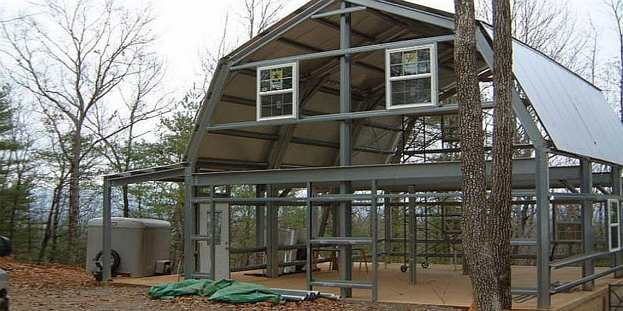 Steel Shell Kit Home 2 Story 1800 Sq Ft 25 480 Metal Buildings Metal Building Homes Steel Buildings