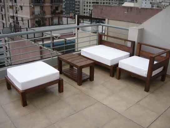 juego apto exterior compuesto de sillones dobles e con o sin apoyabrazos incluye mesa