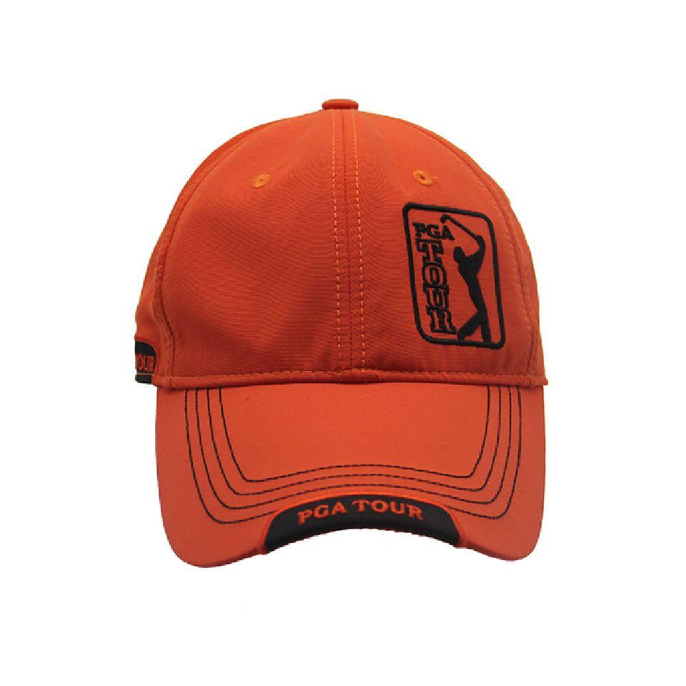 30f7b0896 China factory orange golf hat customized sport caps tennis baseball ...