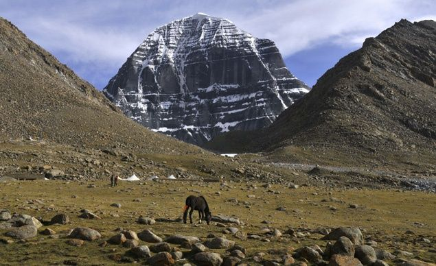 Mount Kailas in Tibet is a sacred place to Buddhists, Hindus, and Jains alike.  (Glebsokolov / Dreamstime.com) From: Beautiful Sacred Places Around the World.