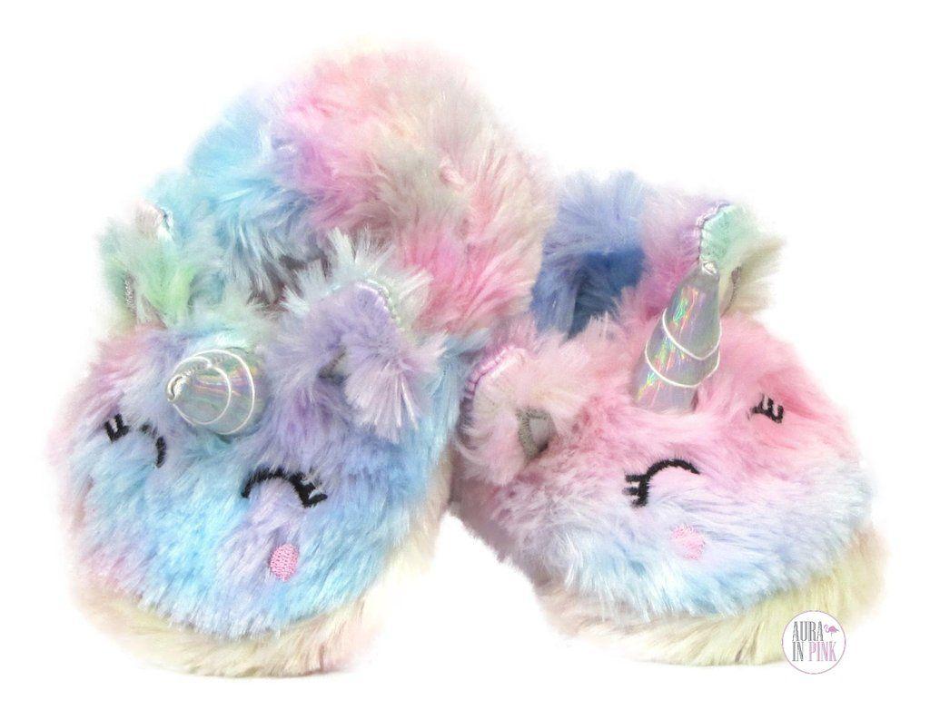 Pastel rainbow, Unicorn slippers