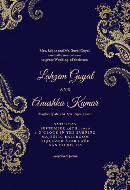 marriage card edit online  invitation card format