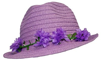d0fa23fa735 Lavender Fedora Hat with Floral Trim