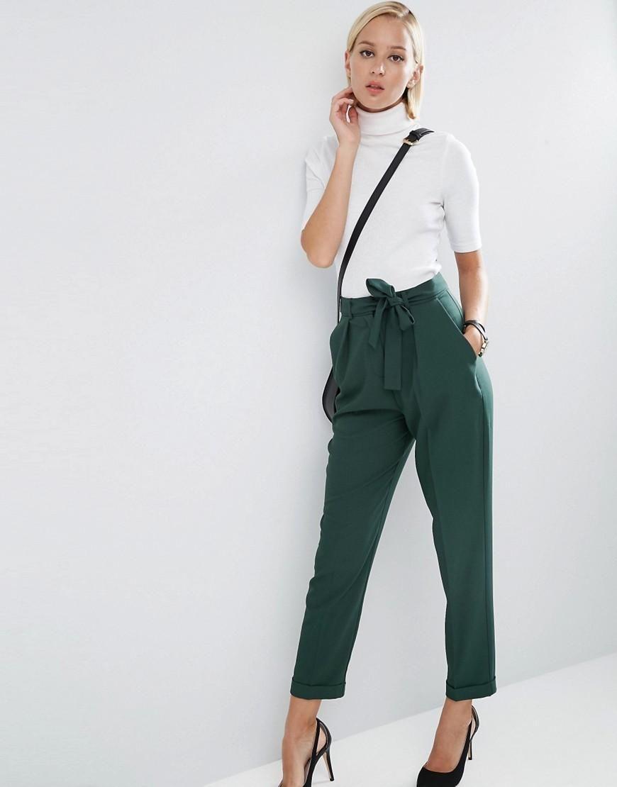 ASOS | ASOS Woven Peg Pants with OBI Tie at ASOS