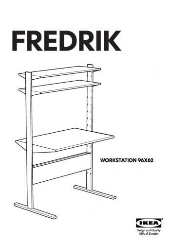 Ikea Fredrik Computer Desk Workstation The Table Top Can Be Mounted At Different Heights Adjust According To Needs