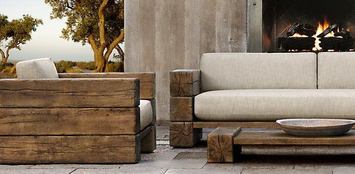 Restoration Hardware Outdoor Chaise, Restoration Hardware Inspired Outdoor Furniture