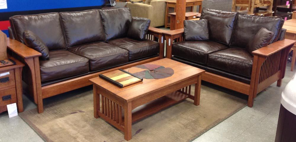 Excellent Mission Style Leather Furniture Furniture Leather Uwap Interior Chair Design Uwaporg