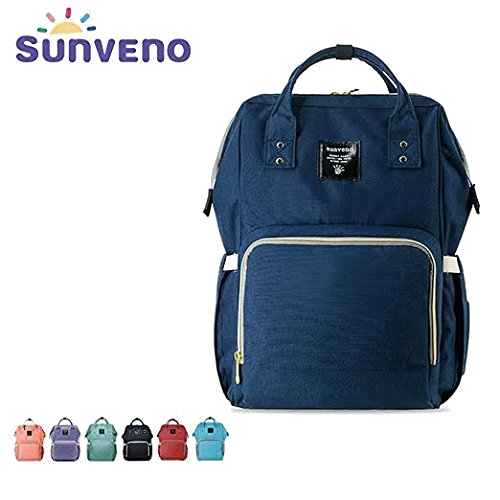Glenmores Page Diaper Changing Backpack Mummy Maternity Bag Nappy Changing Rucksack Waterproof Travel Backpack for Baby Care Large Capacity Multi-Function Navy Blue
