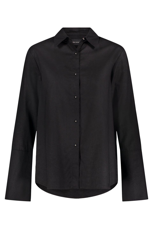 Husband Shirt Linen Husband Shirts Black Button Up Shirt Black Collared Shirt [ 1440 x 960 Pixel ]