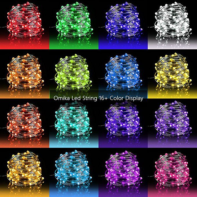 LED Fairy Lights 33ft 100 LEDs Battery Operated String Lights