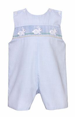 ae42a91aa Petit Bebe Infant   Toddler Boys Blue Check Smocked White Easter ...