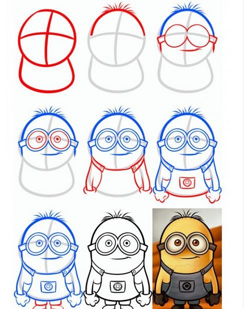 Comment Dessiner Un Minion : comment, dessiner, minion, Minions!, Minion, Drawing,, Drawing, Tutorial