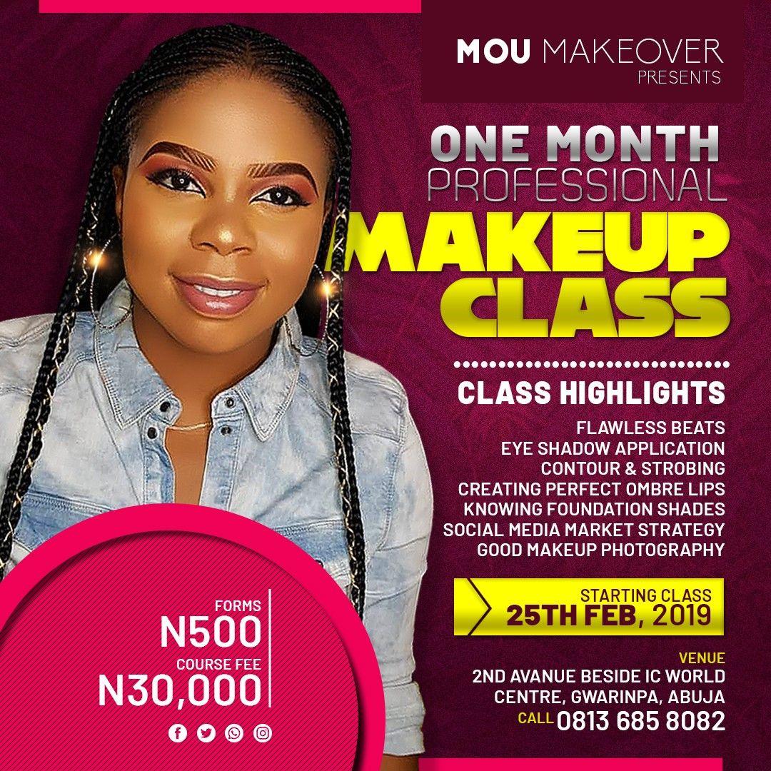 Make up training Flyer design Food poster design, Church