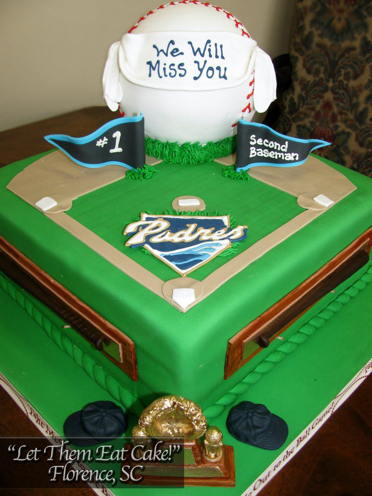 Stupendous San Diego Padres Cake Baseball Party Cake Eat Cake Let Them Personalised Birthday Cards Veneteletsinfo