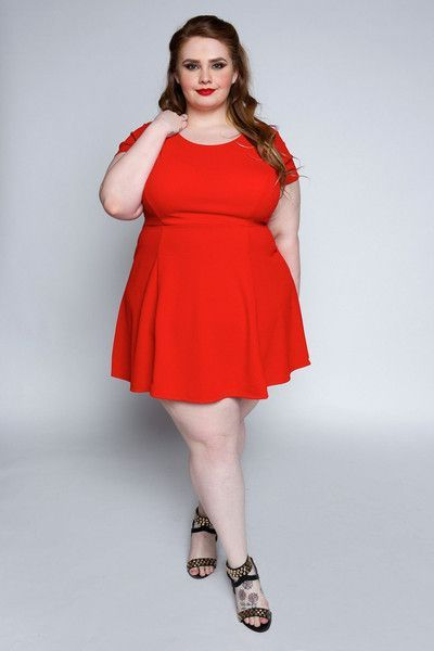 11e09a3813b Plus Size Clothing for Women - EmpoweRED Charming Plus Size Dress (Sizes 12  to 18) - Society+ - Society Plus - Buy Online Now!