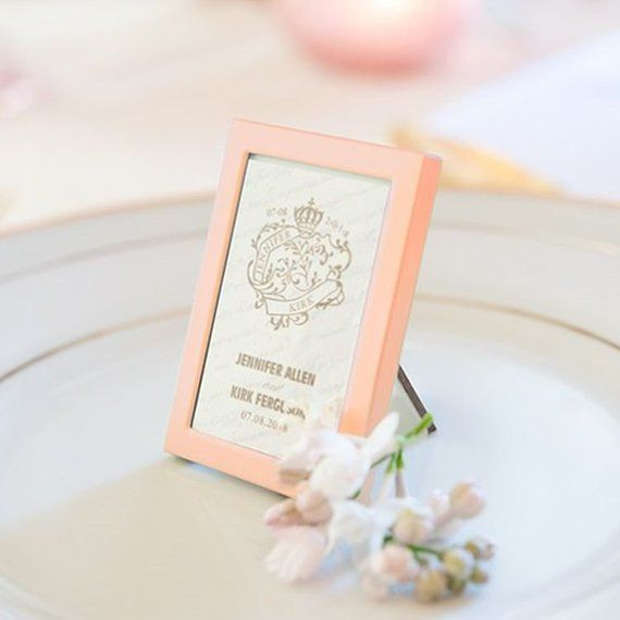 Rose Gold Frames With Easel Back Set Of 3 Wedding Favors Place