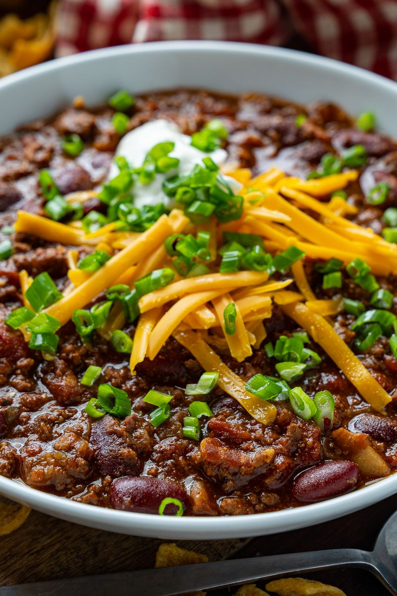 Easy Beef And Bean Chili Recipe Fall Soup Recipes No Bean Chili Beef