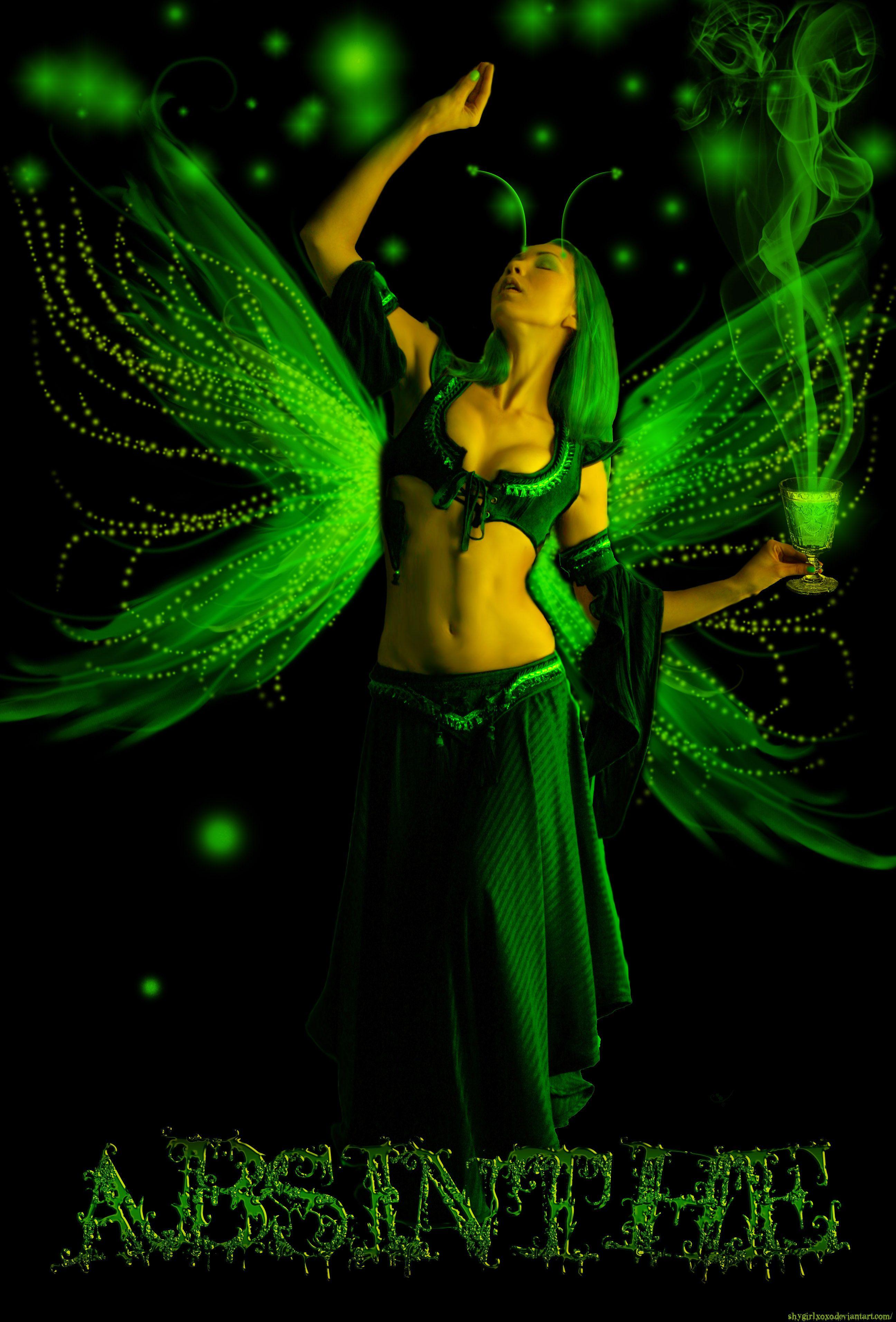 Absinthe Green Fairy costume ideas  sc 1 st  Pinterest & Absinthe Green Fairy costume ideas | ad art | Pinterest | Green ...