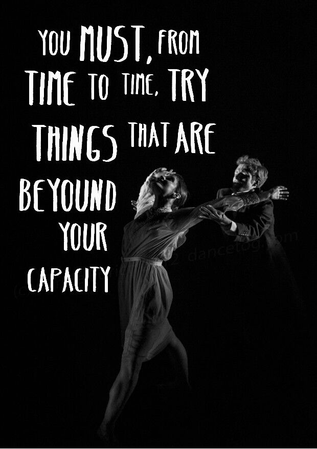 Go beyound your capacity