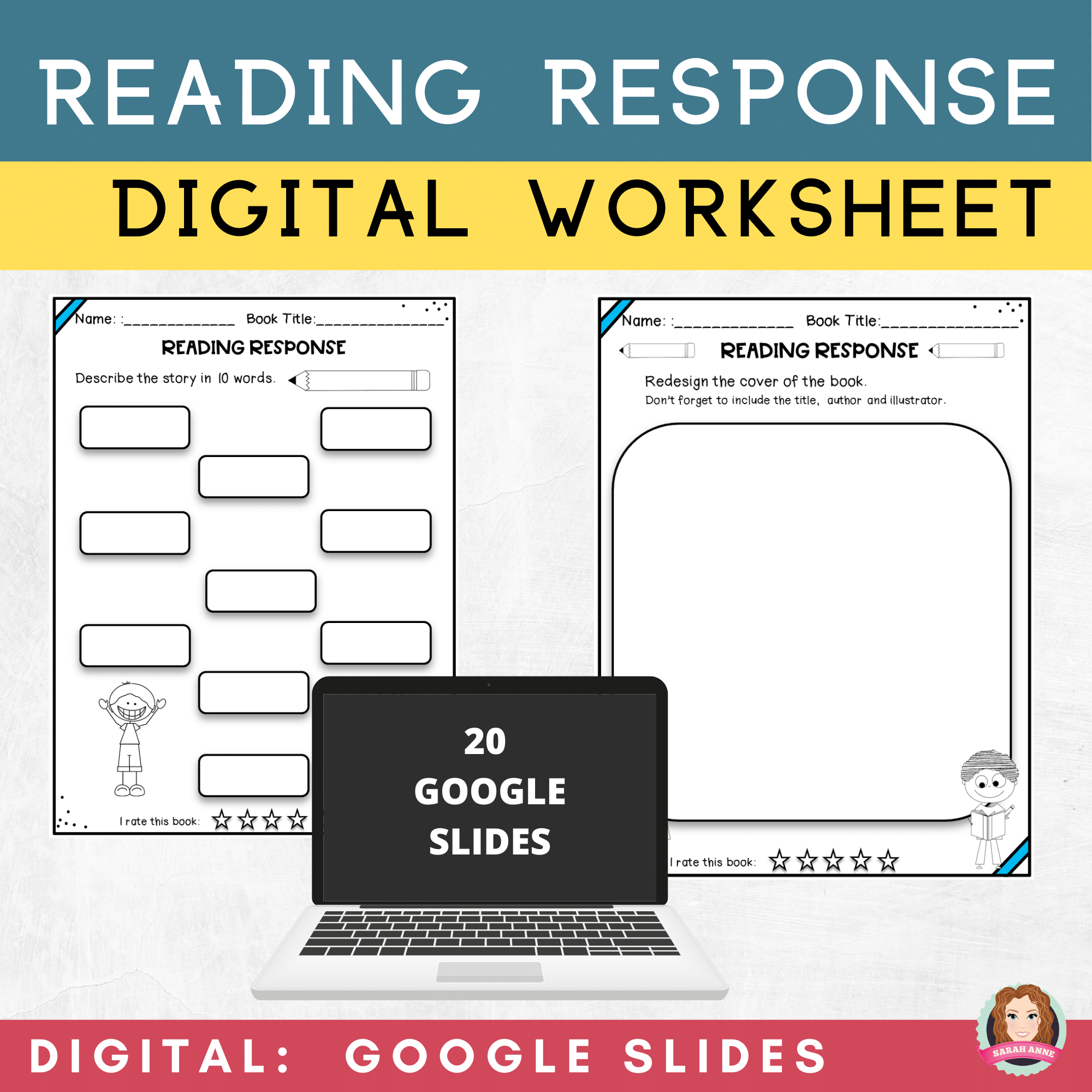 hight resolution of Reading Response Worksheets   Google Classroom   Distance Learning   Reading  response worksheets
