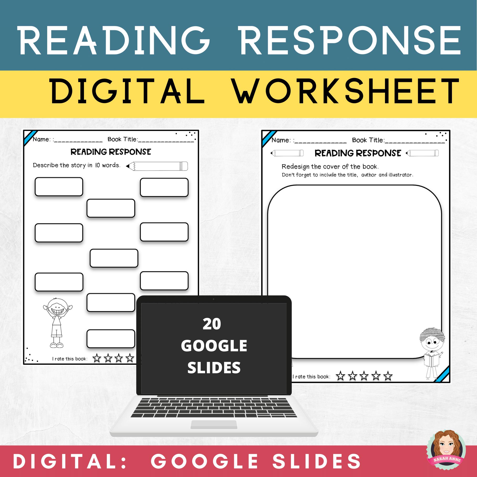 medium resolution of Reading Response Worksheets   Google Classroom   Distance Learning   Reading  response worksheets