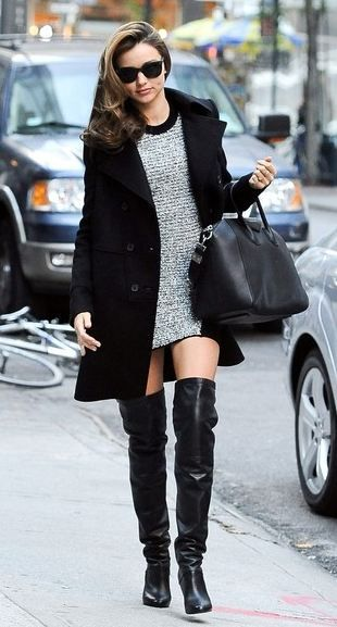 Miranda Kerr Over the Knee Boots | Skirts, Over knee boots and Boots