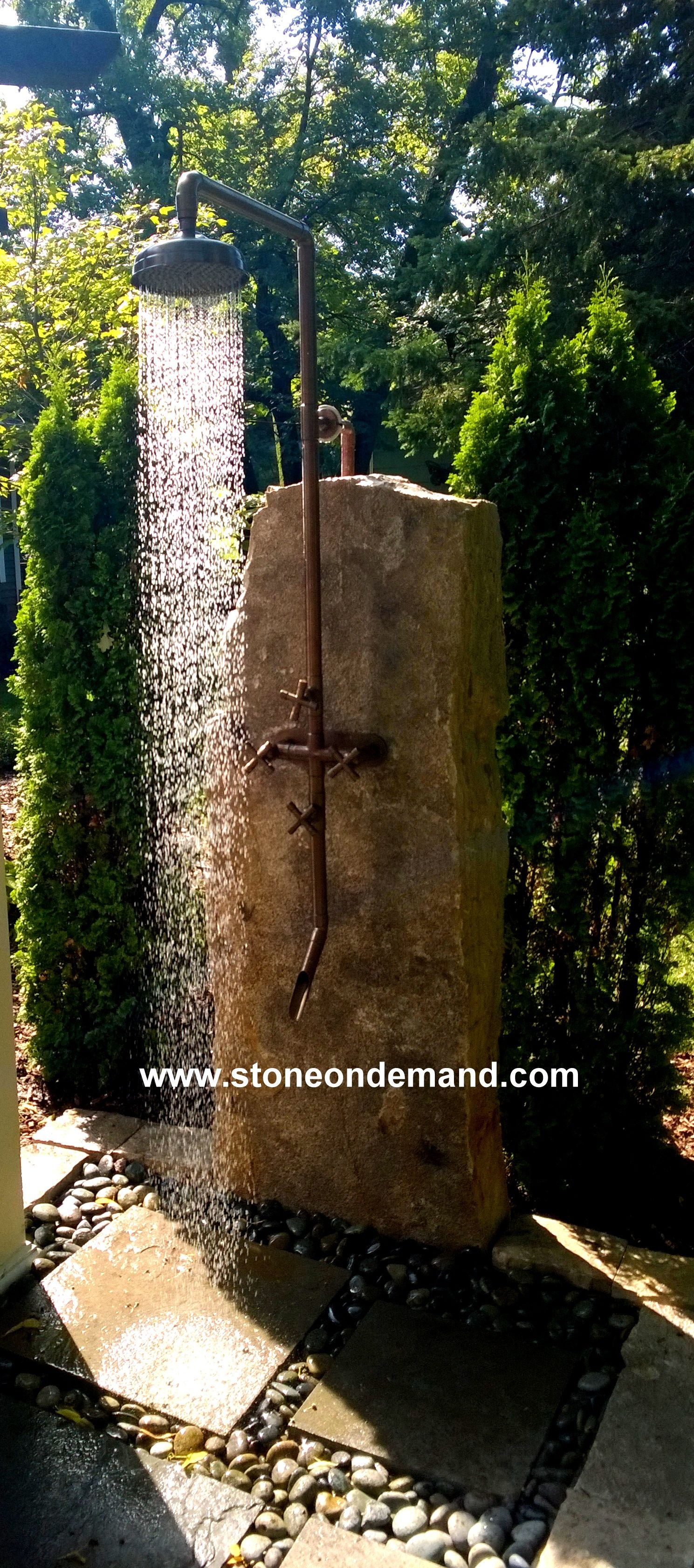 Gartendusche Rustikal Parade Of Homes Featured Our Outdoor Shower Außendusche
