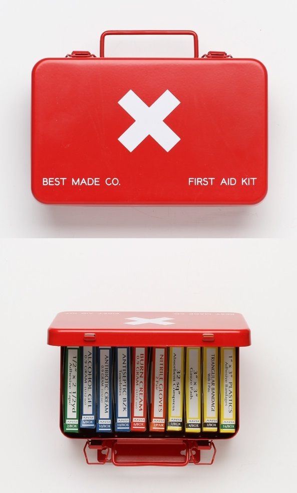 Neat first aid kit.