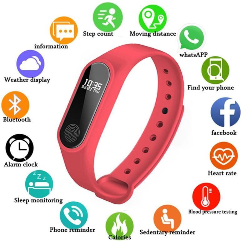 smart fashion sports watch fitness running tracker bracelet step blood pressure